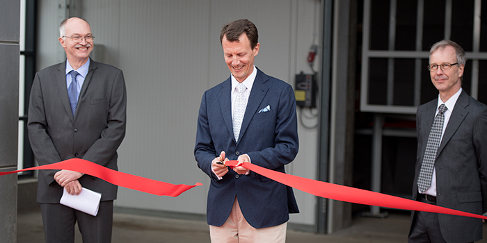 His Royal Highness, Prince Joachim inaugurates the wind tunnel